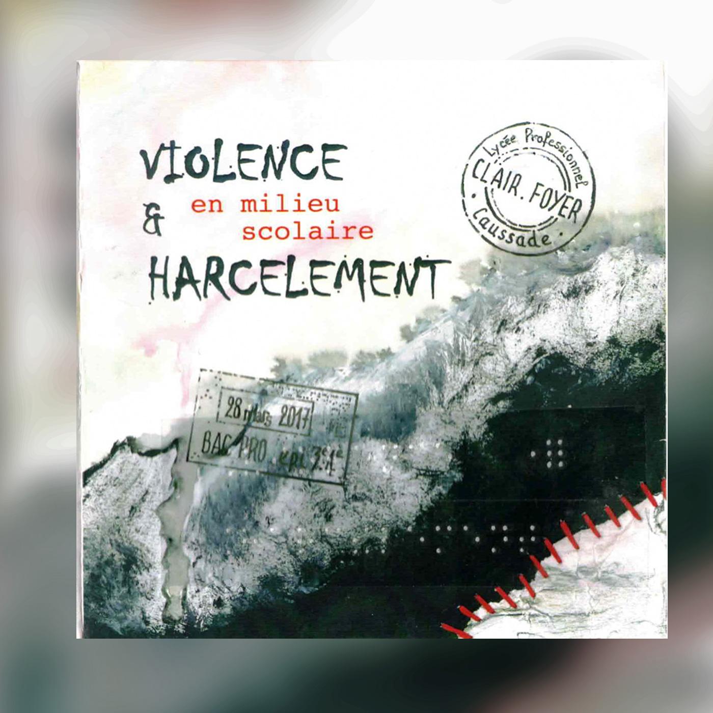 pochette du dvd Violence et harcèlement en milieu scolaire réalisé pa les élèves du clair foyer de caussade