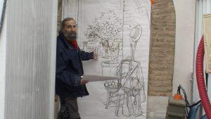Bernard Perrone présente la technique du poncif