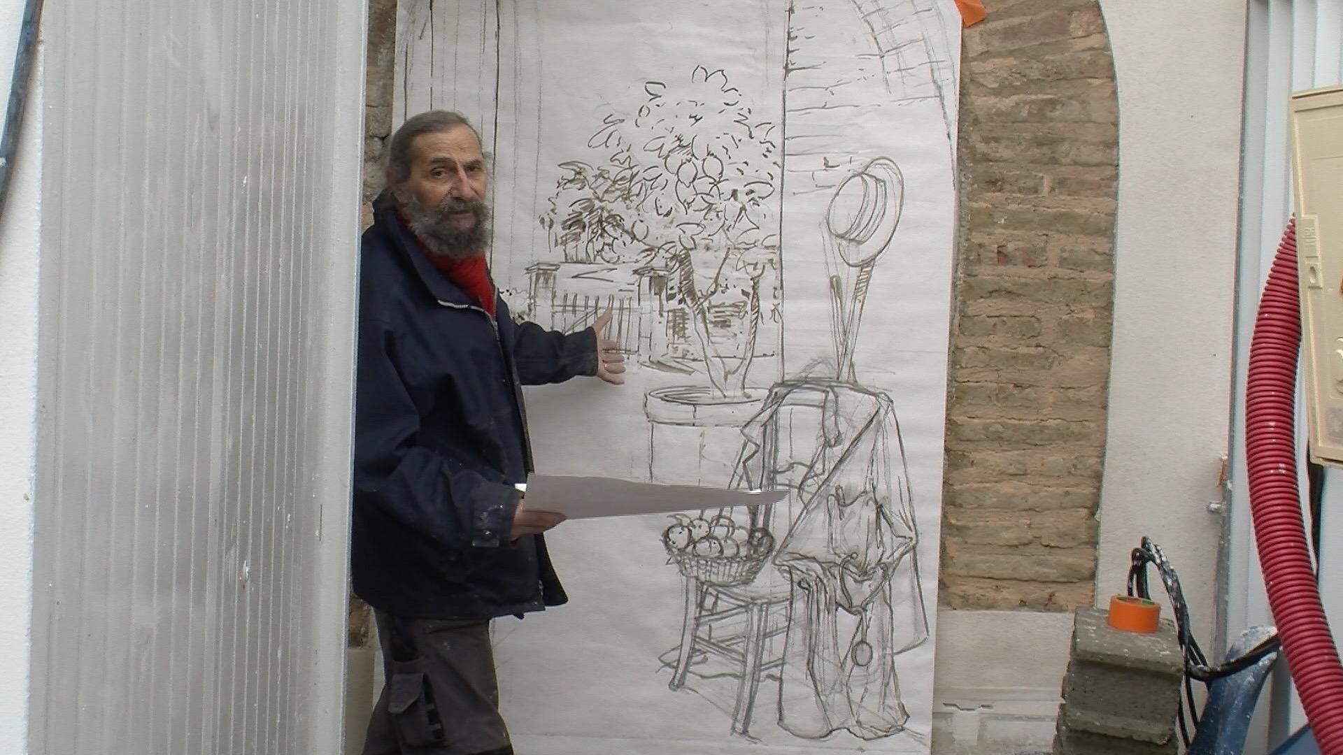 Bernard Perrone et ses décors en trompe-l'oeil
