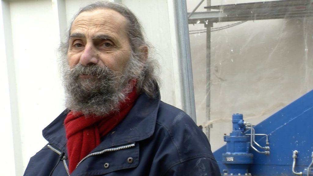Bernard Perrone sur le chantier de la maison Escobas à Caussade