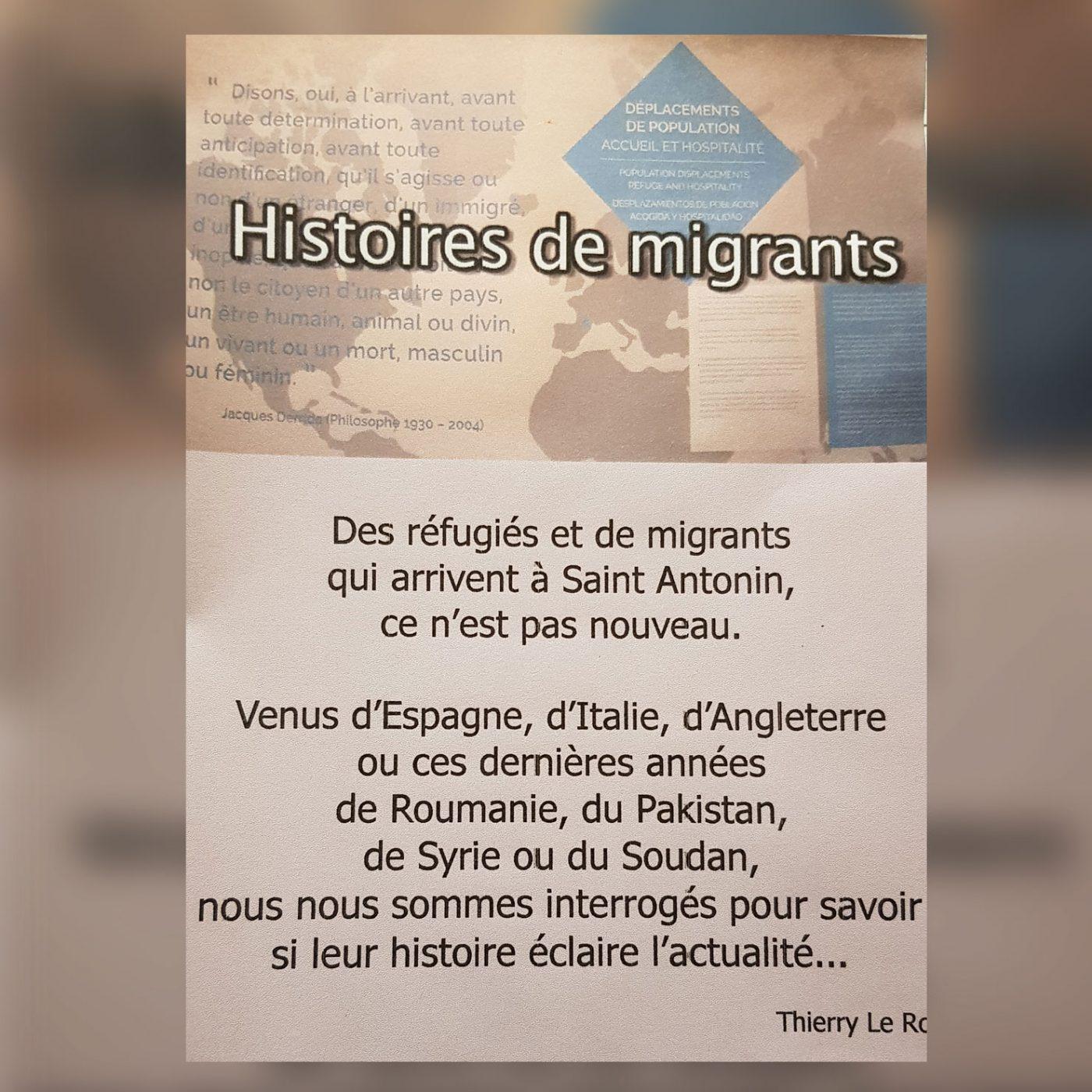 image extraite de la jaquette du dvd histoire de migrants à saint antonin noble val